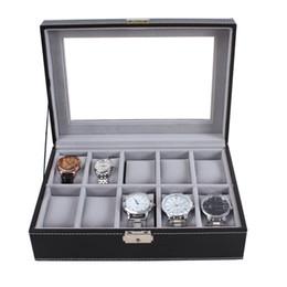Luxo Senior 10 Slots Display Couro WatchBox Cinza Caixa De Veludo Caso Organizador Caixas De Suporte, Caixas De Relógio Caso Caixa De Exibição De Fábrica supplier velvet factory de Fornecedores de fábrica de veludo