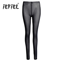 see leggings Coupons - Women Lingerie See-through Sheer Mesh Pants Breathable Leggings Trousers for Sexy Women's Clothing Leggings