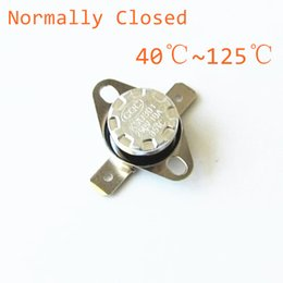 Wholesale Normally Closed - KSD301 250V 10A Normally Closed NC Thermostat Temperature Thermal Control Switch DegC 40 45 50 55 60 65 70 75 80 85 90 100 125
