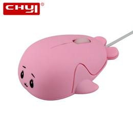 ratón delfín Rebajas Ratón computarizado por cable 1600 DPI Cute Little Dolphin Mouse USB óptico Mini Mause ratones para mujeres amor regalo niños gratis