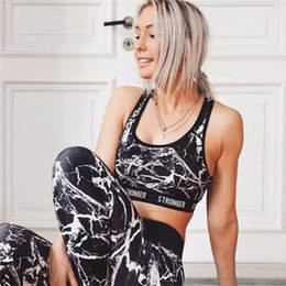 Wholesale Tank Top Scoop Neck - 2pcs Graffiti 3D Printed Yoga Set Women's Sport Wear Vest Tank Top and Long Leggings Outfit Yoga Set Black White Fitness Tracksuits