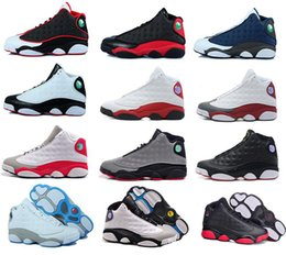 Wholesale famous massage - Cheap Famous Trainers America Captain 13 XIII 13s Hologram Men's Sports Basketball Shoes Barons (white black grey teal) US 8-13