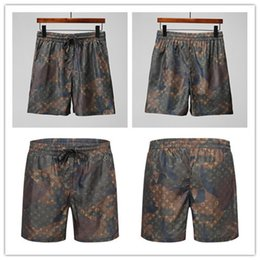 Wholesale denim short pants for men - Casual basketball shorts for men male 2018 summer new loose printed beach pants large size tide men's clothing print 15