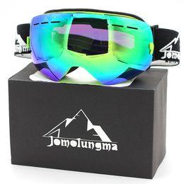 Wholesale sg double - Brand Jomolungma New SG Ski Goggles Big Spherical Double Layers Anti-Fog HD Polarized Snow Snowboard Skiing Eyewears Outdoor Glasses SG00102