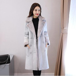 Wholesale large faux fur hats - Fashion Winter coat Women winter jacket NEW 100% High quality Large size warm cotton jacket fur coat Long Faux Lambs Wool