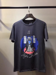 Wholesale Unique Mens Shorts - 2018 New Arrival luxury brand Summer Style Mens short sleeve t-shirt Unique grey printing of gunst shirt Mens designer cotton T Shirts