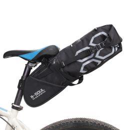 Pacote de assentos on-line-12L Bicicleta Bag Sela Assento Da Cauda À Prova D 'Água Sacos De Armazenamento Ciclismo Rear Pack Almoços Acessórios Drop Shipping 2018 Novo