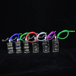 2019 plataforma do dragão Mini Dab Bong 5.5 polegadas Header De Vidro Tubo De Queimadores De Óleo 10mm Banger Dab Plataformas de Petróleo Pequeno Bong Tubo De Água Tipo de Dragão Reycler Bong desconto plataforma do dragão