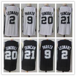 Wholesale Parker Top - Top Sell 2018 Elite 9#Tony Parker jersey 2# Kawhi Leonard 20# Manu Ginobili 21# Tim Duncan basketball jerseys Embroidery shirts Free Shippin