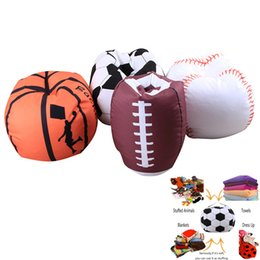 Wholesale fabric for plush toys - Baseball Basketball Football Softball Storage Bags For Kids Baby Play Plush Stuffed Toys Home Blanket Towel Dress Up Organization HH7-988