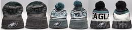 Wholesale fur knit hats - New Fashion Unisex Winter Philadelphia Hats for Men women Knitted Beanie Wool Hat Man Knit Bonnet Beanie Gorro Warm Cap