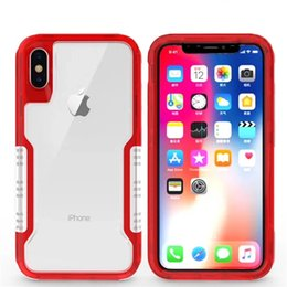 Wholesale iphone layer - Hybrid Dual Layer Protective Transparent Clear Phone Case Shockproof Cover For iphone X 8 7 6S 6 Plus Samsung Note8 S9 S8 Plus Opp Aicoo