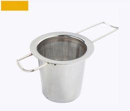 Reutilizable de acero inoxidable colador de té Infuser filtro de canasta de té Infuser plegable cesta colador de té Para Tetera desde fabricantes