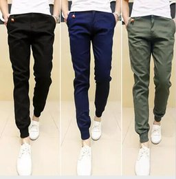 Wholesale Men Casual Slim Trousers - New Mens Skinny Joggers Chinos Slim Pants Men Trousers Hip Hop Pantalones Hombre Plus Size S-XXXL