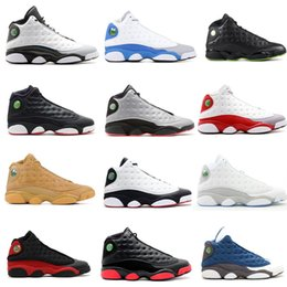 Wholesale Italy Canvas - 13s ITALY BLUE Mens basketball shoes Sneaker Grey Toe Wheat Sports Shoes altitude green 13 Sneakers Athletics Trainer