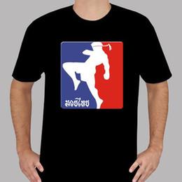 Kampfkünste muay thai online-Neue Muaythai Muay Thai Kick Boxen Martial Art Männer Schwarz T-Shirt Größe S-3XL