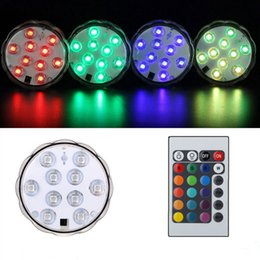 mini luci sommergibili Sconti Mini Sommergibile Led Acquario Luce Lampada Impermeabile Telecomando RGB Per Fish Tank Lampada Colorata OOA5471
