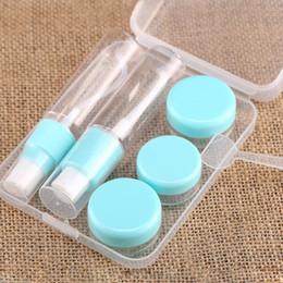 6 en 1 conjunto de botella vacía de plástico de viaje nórdico Sub-botella portátil Combo con estuche para champú acondicionador crema de loción desde fabricantes