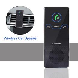 hd hände Rabatt Drahtloser Auto-Sprecher übergibt freien Bluetooth Freisprecheinrichtung-Satz mit Luft-Entlüftungsöffnung und Sonnenblende-Klammer HD Stereoaudiospieler für IOS- / Android-Telefon