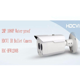 Wholesale Full Free P - Free Shipping DAHUA Security Outdoor Camera CCTV 2MP FULL HD 1080P Water-proof HDCVI IR Bullet Camera without Logo HAC-HFW1200B