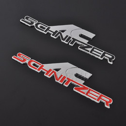 3D Metal AC Schnitzer araba Logosu Rozeti Amblem Oto Etiketler Araba Çıkartması BMW Için 3 M tutkal Araba-Styling Etiketler aksesuarları nereden