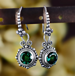 Pendientes tailandeses online-2018 Promotion Brinco Jewelry, Antique Fashion, Estilo exótico, Exquisite Craft, Thai Crystal Earrings, Female Earrings Earrings.