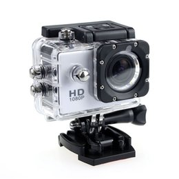 Wholesale Camping Cards - Free send DHL- 2017 new SJ4000 freestyle 2inch LCD 1080P Full action camera 30 meters waterproof DV camera sports helmet SJcam DVR00