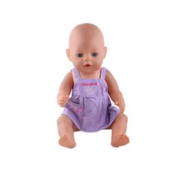 ropa de mono usar fit 18 pulgadas American Girl, 43cm Baby Born zapf, mejor regalo de cumpleaños para niños n351 desde fabricantes