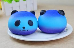 Commerci all'ingrosso Jumbo Kawaii Cielo Stellato Panda Squishy Super Slow Rising Fascino Squishies Pane Spremere Bun Kid Toy Anti-Stress PU Schiuma Doll da