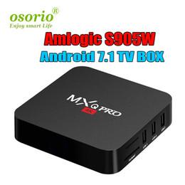 mx tv box quad core Promotion MXQ Pro 4K Android 7.1 Box TV Amlogic S905W Quad Core Smart Mini PC 1G 8G Support Wifi 4K H.265 Streaming IPTV Google Media Player