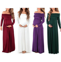 78977c125c86 2019 vestiti da festa di gravidanza Vestiti lunghi di maternità Abiti da  sera di maternità vestiti