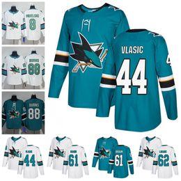 2018 San Jose Sharks Hockey  44 Marc-Edouard Vlasic 61 Justin Braun 47  Joakim Ryan 50 Chris Tierney Teal Green White New Jerseys S-60 d27ea116d