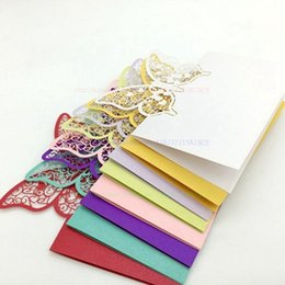 Wholesale Butterfly Name Place Cards - Wholesale- 30pcs Butterfly Laser Cut Wedding Party Table Name Place Cards Wedding Table Decoration Wedding Favors And Gifts Party Supplies