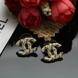 Wholesale Beautiful Shells - CPE7 women fashion earrings full flash bead all-match beautiful simple style gold plate for gift free shipping