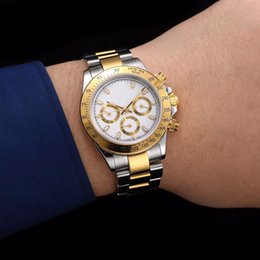 Wholesale Fold Folder - New listing high-quality AAA + luxury brand watch TONA high quality Asian 2836 automatic mechanical folder gold stainless steel strap watch