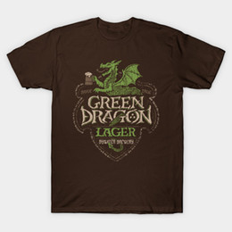 Wholesale White Lager - Green Dragon Lager T-Shirt