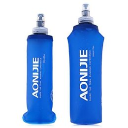 Wholesale Bpa Free Travel Water Bottle - AONIJIE 250ml 500ml Foldable BPA PVC Free Soft Water Bottle Kettle Travel Outdoor Sport Camping Hiking Walking Running