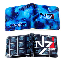 Wholesale multi games card - Rick And Morty Deadpool Wallets mass effect 3 official N7 game peripheral limited printing wallet youth personality animated cartoon wallet