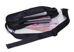 Alta calidad hombres poliéster celular / teléfono móvil bolsa de bolsillo pequeño antirrobo monedero bolsa Fanny cintura hip Bum Belt Pack desde fabricantes