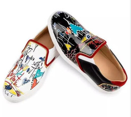 Wholesale Bottom Boat - Spring Fall Women Men Casual Shoes Red Bottom Boats Sneakers,Graffiti Genuine Leather Sailor Boat Shoes Luxury Design Framous Brand