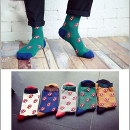 habillement décontracté pour les hommes Promotion Couleur équipage coton heureux chaussettes hommes casual dress harajuku designer marque mode cool nouveauté art drôle homme chaussettes 10pcs = 5pair / lot