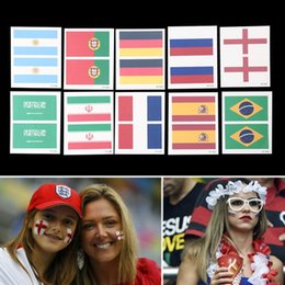 Wholesale Tattoo Dhl - DHL National Flag Tattoo Sticker for 2018 Russia World Cup Temporary Body Face Hand Tattoo 32 team
