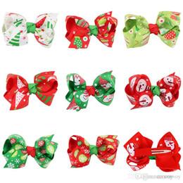 Девочки заколки рождественские заколки Xmas подарок заколки для волос дети партия Луки заколки детские аксессуары для волос KFJ16 от Поставщики детские аксессуары для детей