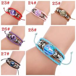 2019 bracelet multi style 28 styles Licorne Temps Gem Verre Cabochon Coeur Bracelets Anniversaire Fille Bracelets pour Femmes Filles Bijoux MMA1105 300pcs promotion bracelet multi style