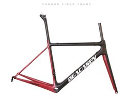 Wholesale Carbon Road Bicycle 48cm - DEACASEN T800 Di2&mechanical carbon fiber bike frame bicycle frameset weave UD finished glossy carbon road frame warranty 2 year
