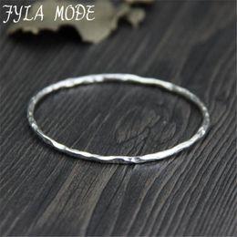 2019 bracelet 999 999 Thai Argent Bracelets Bijoux En Ligne 2.20mm Mince Argent Texturé Bracelet Bracelet Été 2017 Bijoux En Gros 4.50G WTB046 bracelet 999 pas cher