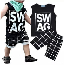 Wholesale infant baby boy clothes fashion - Boys Ins Clothing Sets Baby Fashion Suits Infant Casual Outfits Kids Ins Tops & Shorts 1-5T B11