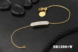 Wholesale 14k Box Chain - free shipping 2018 fashion stainless steel beauty full stone Hexagon classic luxurious lady braceley party bracelet