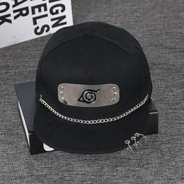 Наруто кепки онлайн-Hot New Japan Anime Comic Naruto Cap Hat Baseball Hats Snapback Caps Adjustable Hip Hop Casual Hat For Men Women