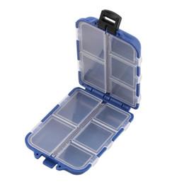Accesorios de almacenamiento de herramientas online-Tackle 10 compartimentos Estuche de almacenamiento Pesca con mosca Señuelo Gancho Cebo Caja de la caja de los trastos Accesorios de la pesca Herramientas Recientemente